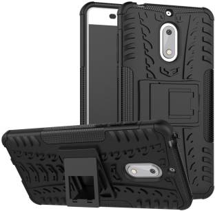 PHONE CASE FOR MICROSOFT NOKIA LUMIA 6 STANDING HYBRID PC SILICONE ARMOR BACK COVER WITH SHELF FOR NOKIA 6 CASE INTL ✓