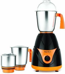 Pigeon MX 12652 750 W Mixer Grinder (3 Jars, Black, Orange)
