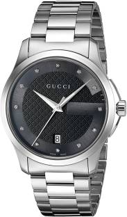 dce62d087a9 GUCCI black8551 Gucci  G-Timelss  Quartz Stainless Steel Silver-Toned Watch(