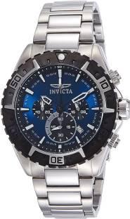 blue8119 Invicta Men's 22526 Aviator Analog Display Swiss Quartz Silver Watch Watch - For Men
