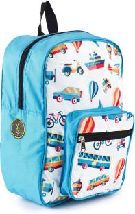 90ea4ae810 The Yellow Jersey Company Travel Theme Blue School Bag for Pre-Sc..