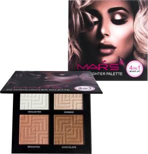 MARS 4IN1 3D Highlighter Powder Palette Makeup highlighter Concealer Brighten Highlighting Makeup Highlighter