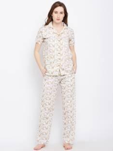 62476061b1 Claura Women s Printed Yellow Top   Pyjama Set