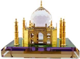 Lilone Show Piece Of Crystal Taj Mahal Home Decorative Miniature Decorative Showpiece  -  6 cm