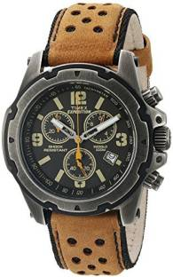 8234ca114 Timex Black18069 Timex Men's TW4B01500 Expedition Sierra Tan/Black Leather  Strap Watch Watch - For