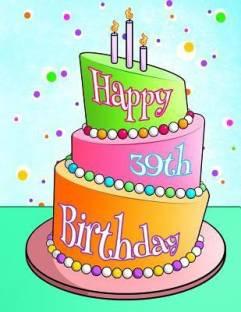 Happy 39th Birthday Buy Happy 39th Birthday By Art Black River At Low Price In India Flipkart Com