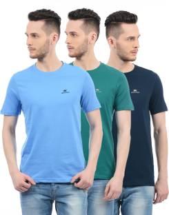 Monte Carlo Solid Men Round Neck Multicolor T-Shirt