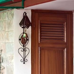 Khan Handicrafts Wooden antique door bell Wooden Indoor Bell