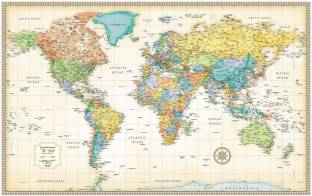 Indian political map hindi vinyl print wall chart jan 01 world map50 32 classic edition world wall map gumiabroncs Images