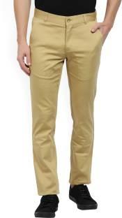 Parx Regular Fit Men's Beige Trousers