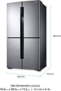 SAMSUNG 693 L Frost Free French Door Bottom Mount Refrigerator