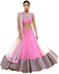 617a00ba9c chamundasilkmill Embroidered, Embellished Semi Stitched Lehenga Choli