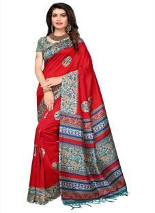 f53915180 Buy Pranshi Fashion Printed Mysore Art Silk Red Sarees Online   Best ...