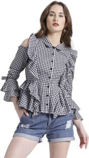 dfe8c876f938d Texco Women Striped Casual White Shirt - Buy Texco Women Striped ...
