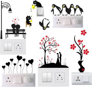 Pixel Print Small Tom And Jerry Switch Board Decorative Wall Sticker