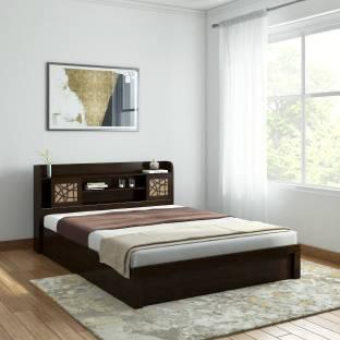 SPACEWOOD Engineered Wood Queen Hydraulic Bed