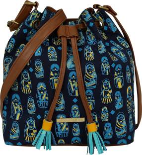 9ae22fe0e284 Baggit Women Casual Blue Cotton Sling Bag Royal Blue - Price in ...