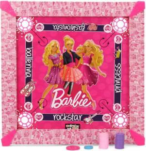 BARBIE Kids Carrom Board (17x17 inch) Carrom Board Board Game