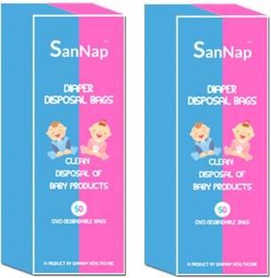 ab810bb9e3 SanNap Baby Diaper Disposal bags ( pack of 100) SanNap Baby Diaper Disposal  Bags -