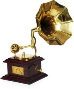 Fashion Bizz Antique Showpiece Brass, Wooden Gramophone