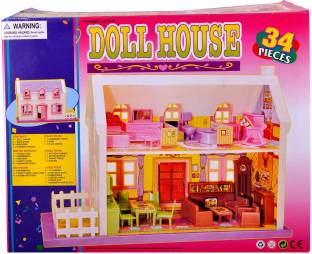 Generic Barbie Size Dollhouse Furniture Grand Dining Room Play Set