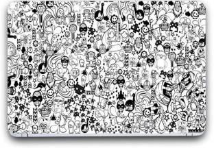 collage cartoon laptop skin sticker wallpaper 15 inch x 10 inch original