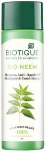 BIOTIQUE Bio Neem Margosa Anti Dandruff Shampoo and Conditioner