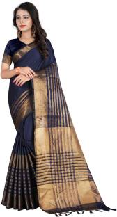 7998ea68516e4d SATYAM WEAVES Self Design Banarasi Cotton Silk Saree