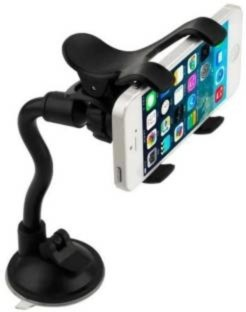 Car Electronics & Accessories TTShonf Flexible Tube Car Phone Mount Windshield Universal Cell Phone Holder Bracket Portable Accessories Mounts Stands for Mobile Phone GPS 1