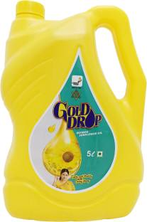 Gold Drop Refined Sunflower Oil Can