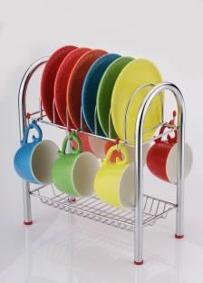 Round Republic Supremo Tea Cup Stand Wooden Glass Kitchen Rack
