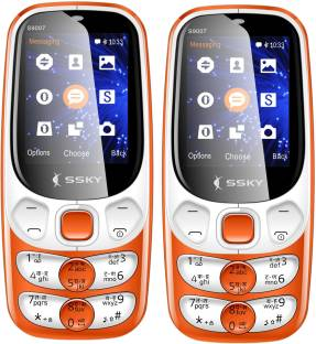 Ssky S9007 Rainbow Combo of Two Mobiles