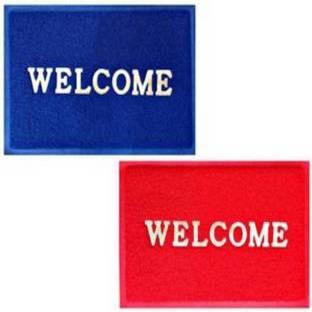 Welcome Plastic Door Mat Buy Welcome Plastic Door Mat Online At Best Price In India Flipkart Com