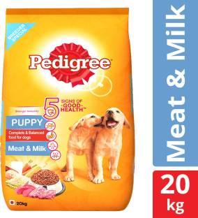 PEDIGREE Puppy Milk, Meat 20 kg Dry New Born Dog Food