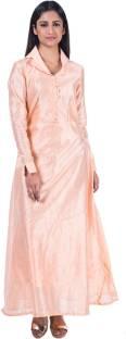 894d86b0082 sarvagny clothing Women Maxi Blue Dress - Buy Firozi sarvagny ...