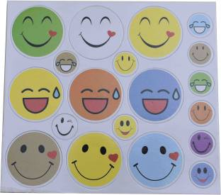 Cortina Round Cartoon Emoji Smile Smiley Face Fridge Magnets
