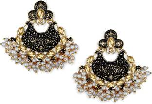 a6d3b24ca Spargz Modern Enamel Gold Plated Ad Chandbali Diamond Alloy Chandbali  Earring