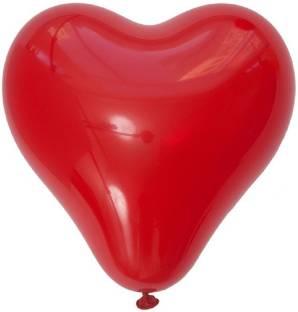Kala Decorators Solid Red Heart [100 Pcs] Balloon For Birthday,Valentine,Party Balloon