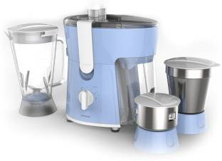 PHILIPS Daily Collection HL7576/00 600 W Juicer Mixer Grinder (3 Jars, Celestial Blue & Bright White)