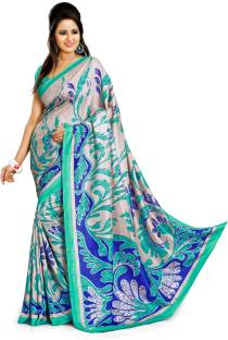 d1b5bb02277a6 Buy Design Willa Printed Mysore Synthetic Crepe Multicolor Sarees ...
