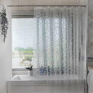 Khushi Creation 21336 Cm 7 Ft PVC Shower Curtain Single