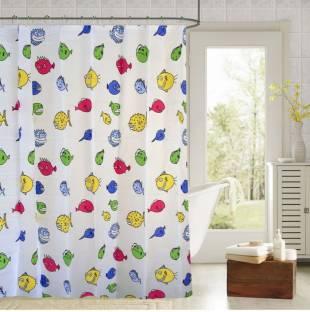 Draperi 180 Cm 6 Ft PVC Shower Curtain Single
