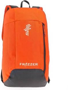 Frazzer Kids Outdoor Travel Backpack For Hiking Camping Rucksack 15 L Backpack Orange, Grey