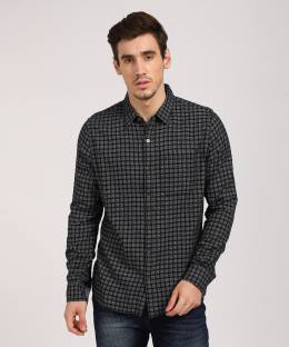 Esprit Men s Checkered Casual Black, White Shirt - Buy Black, White ... 68f3a73ee0