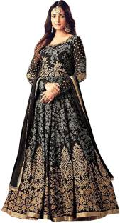 88750d272a IndianEfashion Georgette Embroidered Semi-stitched Salwar Suit Dupatta  Material