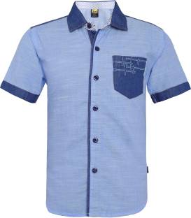 53019414 Font Kids Boys Printed Casual Blue Shirt - Buy Blue Font Kids Boys ...