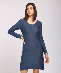 All About You Women Sweater Grey Dress - Buy All About You Women ... db4c63c642