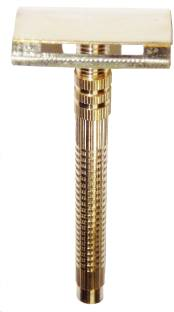 KONIT Pack Of 1 Double Edge Brass Shaving Razor With Designer Handle