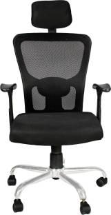 APEX CHAIRS SAVYA HOME BEATLE CHROME BASE HIGH BACK OFFICE CHAIR Fabric Office Executive Chair