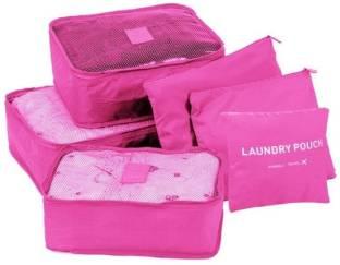 Italish Set of 6 Laundry Pouch Luggage Bag Packing Cubes Travel Storage Organizer